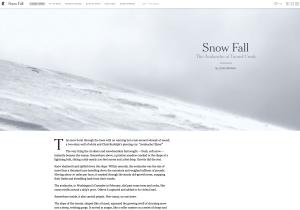 NYT snowfall