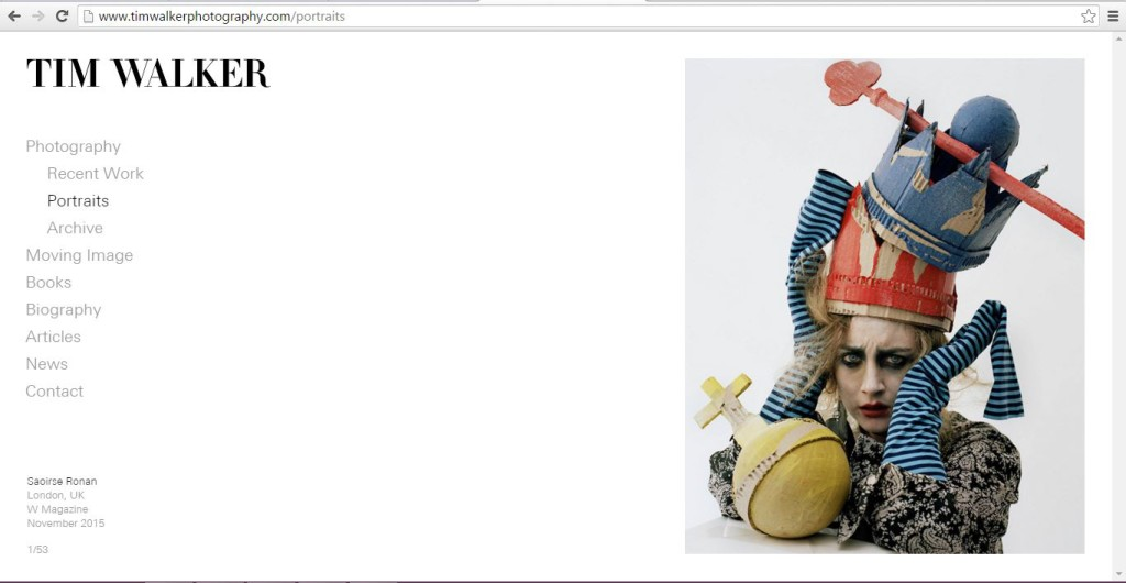 Tim Walker's Website.