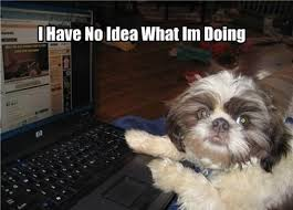 This is how I felt on the first day of coding in this class... gladly, I no longer feel lost!