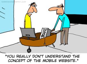 mobile website cartoon